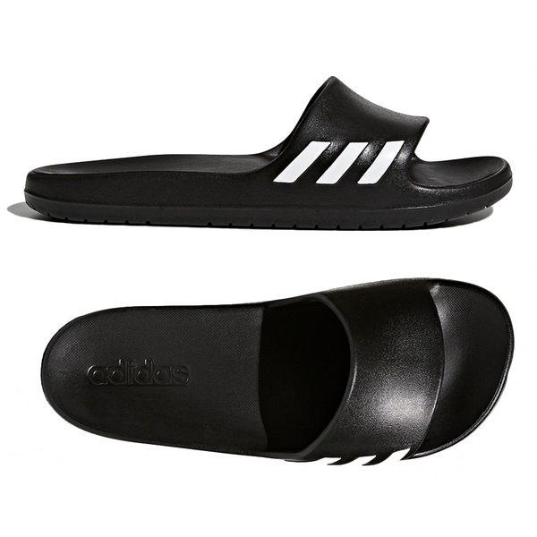 Adidas Aqualette Slides 女 黑 白 防水拖鞋 愛迪達 經典休閒拖鞋 拖鞋 一體成型 BA8762