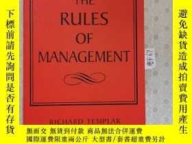 二手書博民逛書店大32開英文原版罕見The Rules Of Management : A Definitive Code for