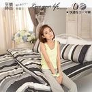 MiNiS 城市光彩(黑) 雙人6*7尺鋪棉兩用被套 單件 100%精梳棉 台灣製 TWA06