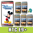 E68精品館 正版 迪士尼 HTC E9+PLUS 鋼化玻璃 鋼膜 手機螢幕保護貼 彩貼貼膜 米奇維尼 怪獸大學 A55