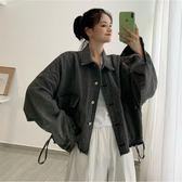 牛仔外套 女長袖秋季新款復古風寬鬆學生毛邊上衣設計感小眾 - 歐美韓