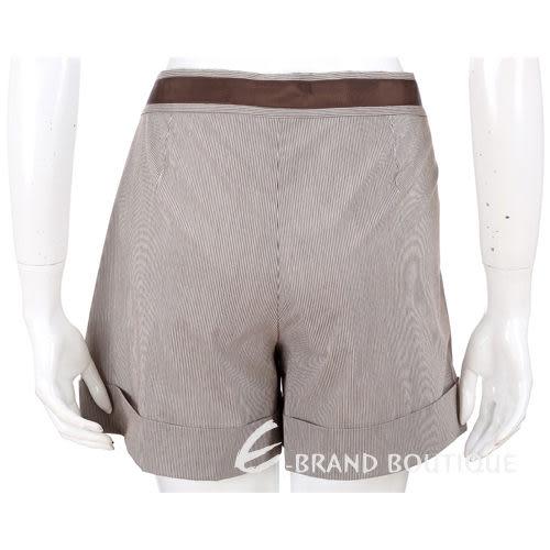 PHILOSOPHY  咖啡色條紋綁帶蝴蝶結飾短褲 1010386-07