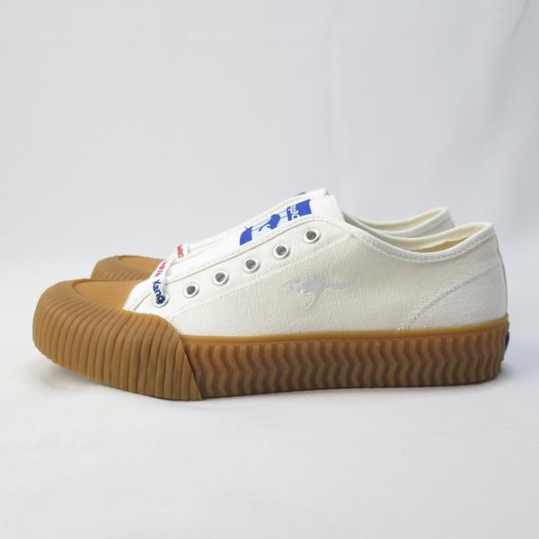 KangaROOS 袋鼠 CRUST 低筒帆布鞋 綁帶 餅乾鞋 KW91279 白x焦糖底 女款【iSport愛運動】
