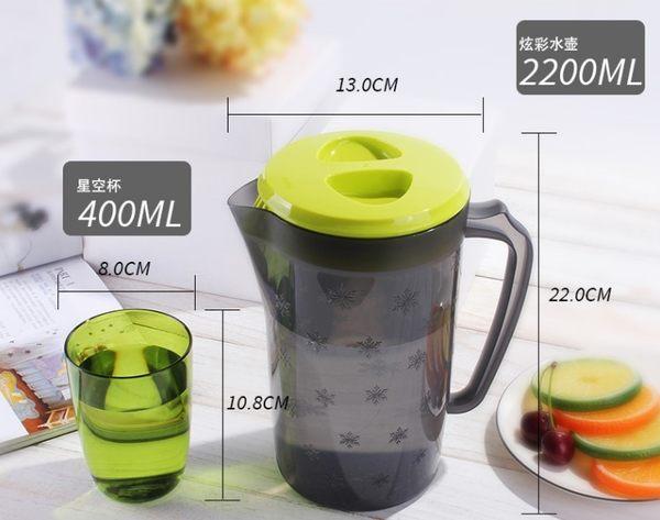 [協貿國際]  耐高溫冷水壺大容量塑料涼水壺茶壺 (4個價)