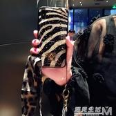 歐美大氣豹紋iphone Xs Max手機殼掛繩蘋果X全包6s/7/8plus潮女Xr  雙十一全館免運