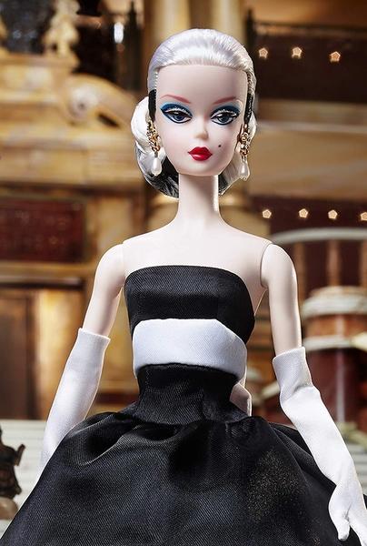 《 MATTEL 》收藏系列 - 芭比60周年黑白造型娃娃╭★ JOYBUS玩具百貨