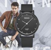 學生手錶男簡約創意大錶盤潮流休閒大氣時尚防水青少年男生錶 艾美時尚衣櫥