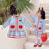 女童小香風針織公主套裝秋冬ins女孩洋氣時髦名媛開衫毛衣半身裙 幸福第一站