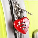 旅行用品 愛心造型行李安全密碼鎖 防竊防...