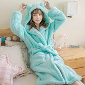 每週新品卡通睡衣女秋冬新款大碼法蘭絨睡袍珊瑚絨浴袍可愛家居服加厚