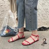 涼鞋 夏季2019新款韓版涼鞋仙女風原宿平底羅馬鞋學生潮百搭 2色35-39 交換禮物