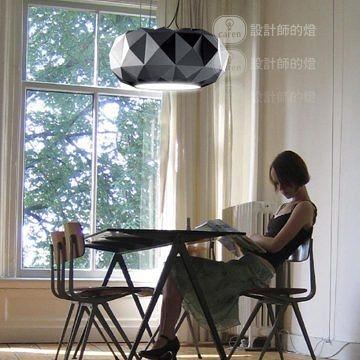 美式鄉村複古 客廳臥室 黑色鑽石吊燈