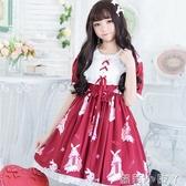 蘿莉裝洛麗塔洋裝日常軟妹洋裝學生可愛日系蘿莉二次元lolita春夏款女 NMS蘿莉小腳丫
