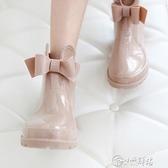 雨靴 加絨雨鞋女士時尚款外穿韓國大人水鞋短筒韓版保暖防滑防水雨靴