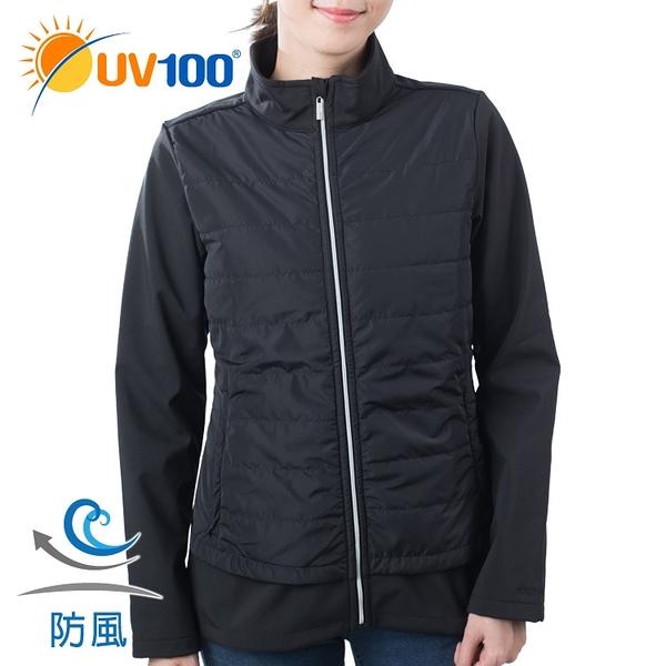 UV100 防曬 抗UV 防風保暖立領舖棉外套-女
