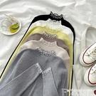 針織上衣 2021年針織衫打底衣女秋冬蕾絲拼接半高領內搭外穿修身短款上衣女 非凡小鋪