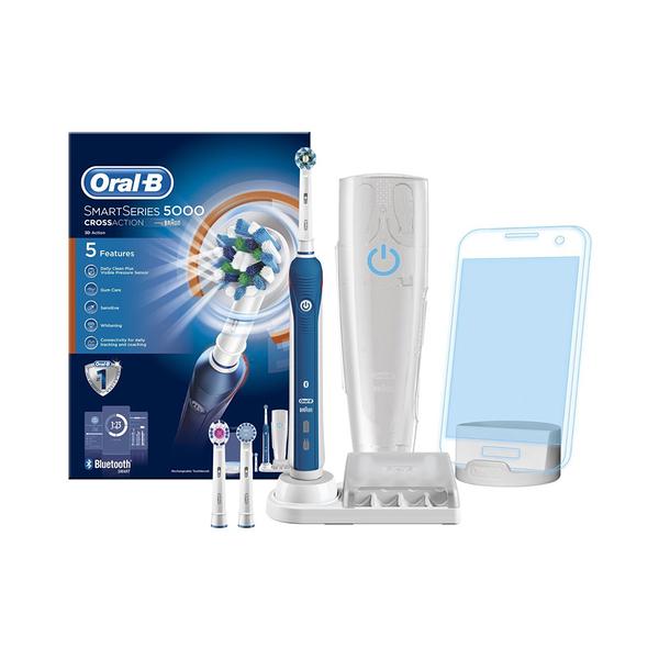 ✔贈3M 牙線棒36入/包x6包✔【Oral-B】Smart Series 藍牙電動牙刷 SS5000(五段潔牙模式.含刷頭2支)