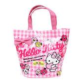 ★funbox生活用品★《Sanrio》HELLO KITTY防潑水水桶提袋(雛菊)_827789