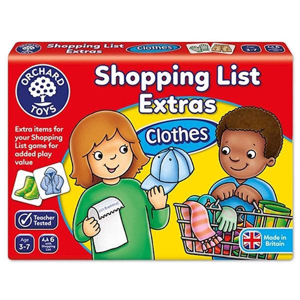 【英國 Orchard Toys】兒童桌遊-配對遊戲 衣物採購樂 OT-091 Shopping List Extras- Clothes
