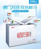 大冰櫃家用冷藏冷凍臥式冰箱商用冷櫃變溫wy