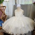 女童白公主兒童裝連衣裙蓬蓬紗裙子洋氣禮服夏裝夏季2020新款小童