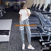 運動褲女寬鬆束腳休閒褲跑步速干工裝潮瑜伽健身長褲高腰【左岸男裝】