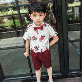 男童短袖襯衫2018韓版夏季2-3歲寶寶短袖襯衣