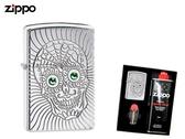 【寧寧精品】Zippo 原廠授權台中30年旗艦店 防風打火機 加送精美禮盒組 鎧甲骷髏背面可雕刻 4485-2