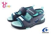 Moonstar 月星 童涼鞋 機能運動涼鞋 透氣 抗臭 H9667#藍色◆OSOME奧森童鞋