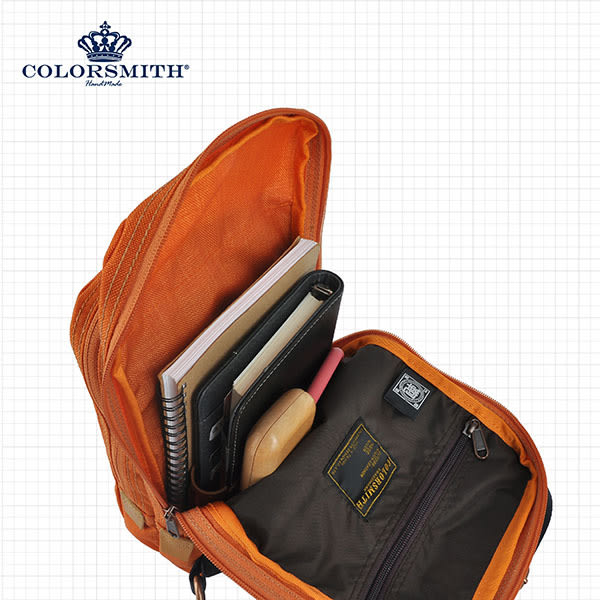 【COLORSMITH】UOC.雙層機能單肩後背包.UOC1352-OR