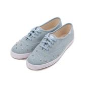 KEDS CHAMPION 彩色水鑽丹寧綁帶休閒鞋 淺藍 9192W112740 女鞋 平底