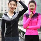 漸層健身瑜珈連帽外套/戶外運動跑步 3色 3碼【PS61102】