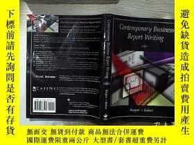 二手書博民逛書店Contemporary罕見Business Report Writing 當代商業報告寫作Y261116
