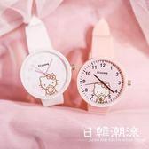 手錶 手表女學生韓版簡約潮流可愛小清新少女心日系粉色糖果色