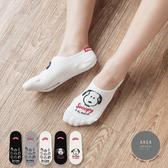 韓國襪子 標籤後跟史努比隱形襪【K0761】
