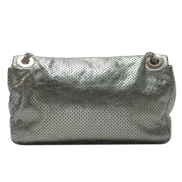 CHANEL 香奈兒 銀色雷射洞洞牛皮復古2.55方扣肩背包 Drill Perforated Bag BRAND OFF
