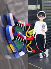 限定款男童鞋子新品免運悟道秋季透氣網面兒童運動鞋網鞋女童春秋男童鞋