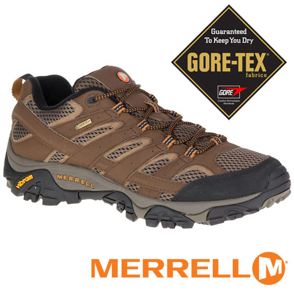 【MERRELL 美國】MOAB 2 男 GORE-TEX 防水多功能健行鞋『咖啡』06041 機能鞋