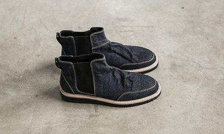 找到自己 MD 日系 高品質 時尚 潮 男 牛仔 高幫 低跟休閒鞋 版鞋
