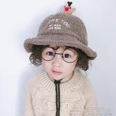 寶寶帽子秋冬兒童保暖漁夫帽加厚羊羔毛女童公主盆帽可愛男童帽子 簡而美
