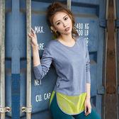【8:AT 】長袖上衣 M-XL(神秘藍)(未滿2件恕無法出貨,退貨需整筆退)