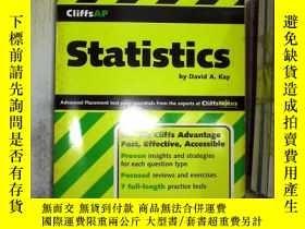 二手書博民逛書店罕見statistics統計學Y261116
