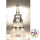 水晶佛陀涅槃塔(高30公分附LED燈座(插電式)  【十方佛教文物】