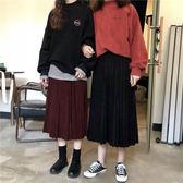 秋冬女裝2018新款韓版學生百搭時尚ulzzang寬松高腰半身裙中長款