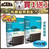 買一送一*KING WANG*【貓】ACANA【愛肯拿/無穀貓糧/太平洋饗宴/多魚玫瑰果/1kg】