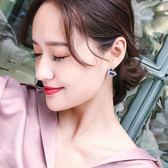 耳釘女 氣質韓國個性耳飾百搭創意三角形無耳洞耳夾925銀簡約耳環