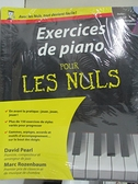 【書寶二手書T7/音樂_KOF】Exercices de piano pour les nuls_David Pearl