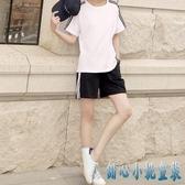 休閒運動服套裝女夏季跑步純棉體考短袖寬鬆短褲五分褲兩件套大碼 KP1133【甜心小妮童裝】