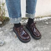 娃娃鞋 韓國ulzzang原宿學院風小皮鞋女復古厚底學生軟妹百搭漆皮單鞋潮 薇薇家飾