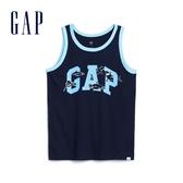 Gap男童創意徽標LOGO圓領背心586454-藏青色